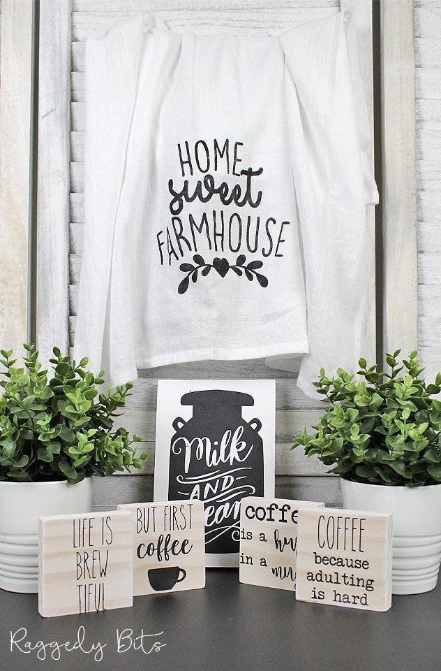 Welcome to our very first Monthly DIY Surprise Tuxedo Box filled with a fun Farmhouse Black and White Theme to make and decorate with | www.raggedy-bits.com | #raggedybits #DIYSurpriseBox #farmhouse #DIY #paint #fusionmineralpaint #mmsmilkpaint #SPMilkpaint #IOD #DIYKit