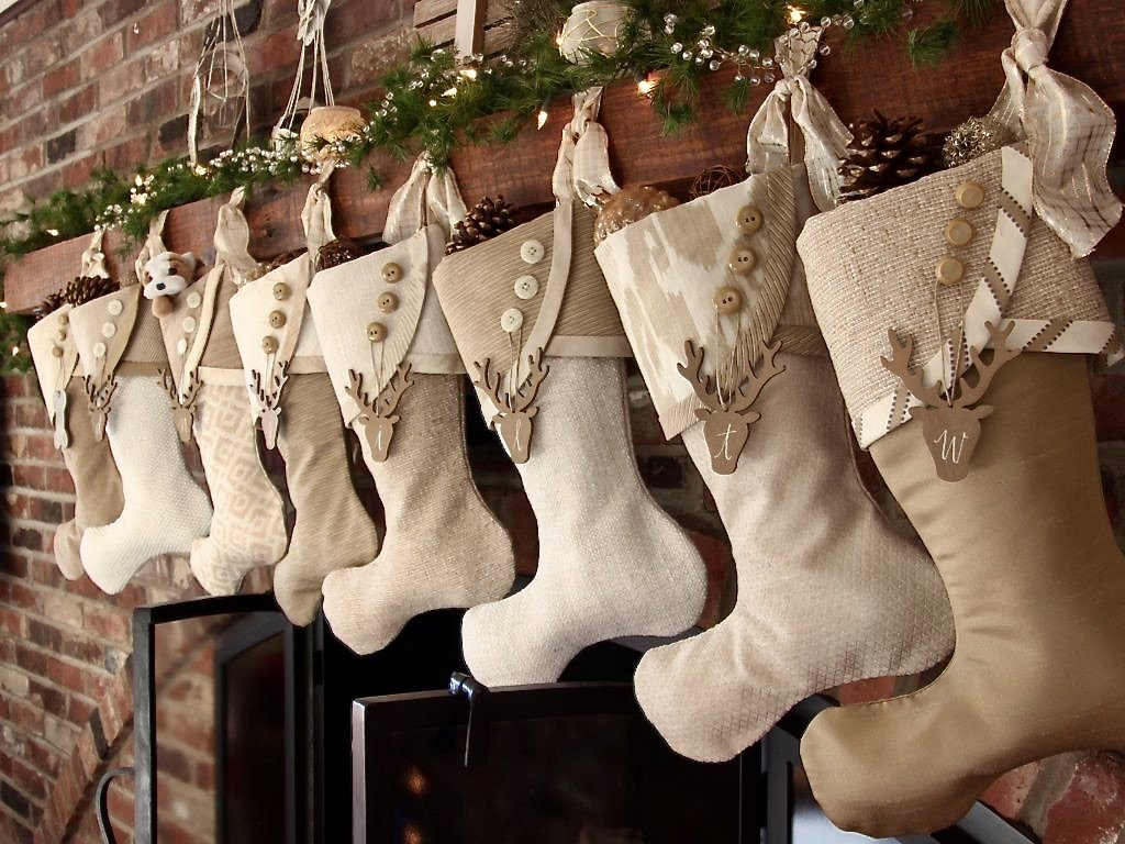 How To Hang Christmas Stockings With Angle Brackets which is a feature for Waste Not Wednesday-216 by South House Designs | www.raggedy-bits.com