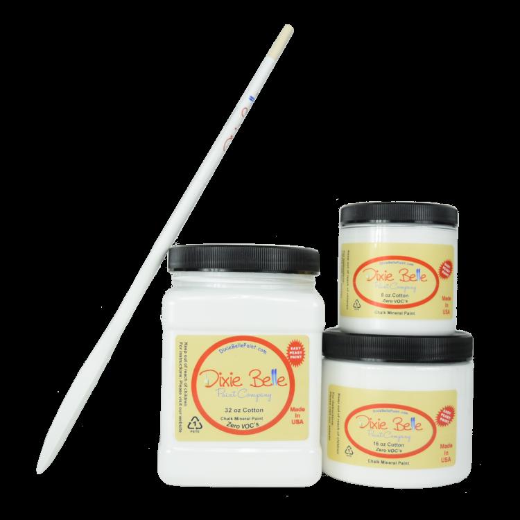 Dixie Belle Chalk Mineral Paint - Cotton | www.raggedy-bits.com #raggedybits #DIY #paint #dixiebelle #Cotton