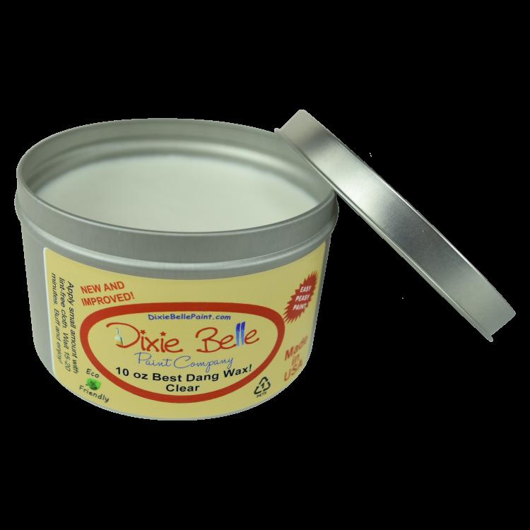 Dixie Belle Chalk Mineral Paint - Best Dang Wax - Clear | www.raggedy-bits.com | #raggedybits #DIY #paint #dixiebelle #BestDangWax #Clear