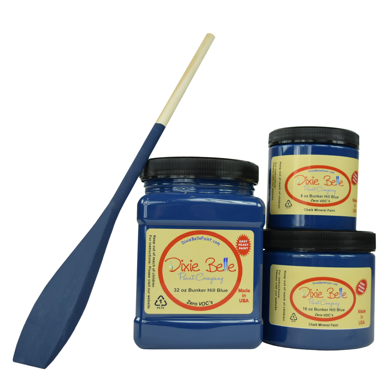 Dixie Belle Chalk Mineral Paint - Bunker Hill Blue | www.raggedy-bits.com #raggedybits #DIY #paint #dixiebelle #Bunker Hill Blue