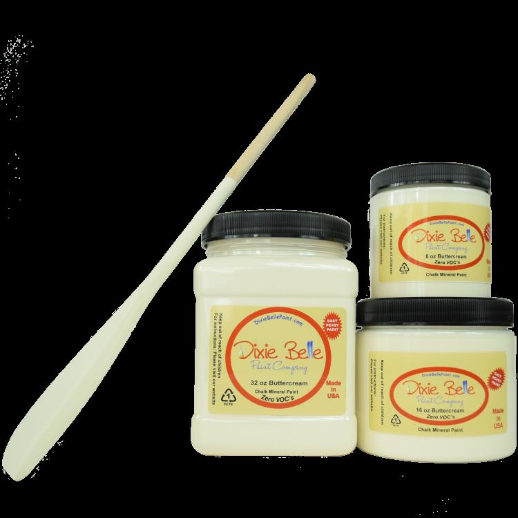 Dixie Belle Chalk Mineral Paint - Buttercream | www.raggedy-bits.com #raggedybits #DIY #paint #dixiebelle #Buttercream