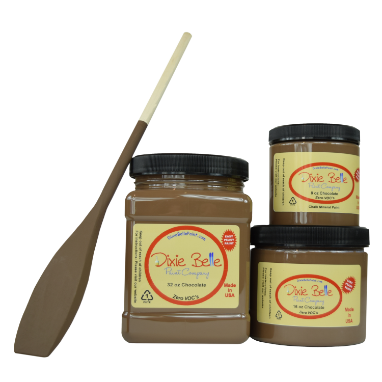 Dixie Belle Chalk Mineral Paint - Chocolate | www.raggedy-bits.com #raggedybits #DIY #paint #dixiebelle #Chocolate