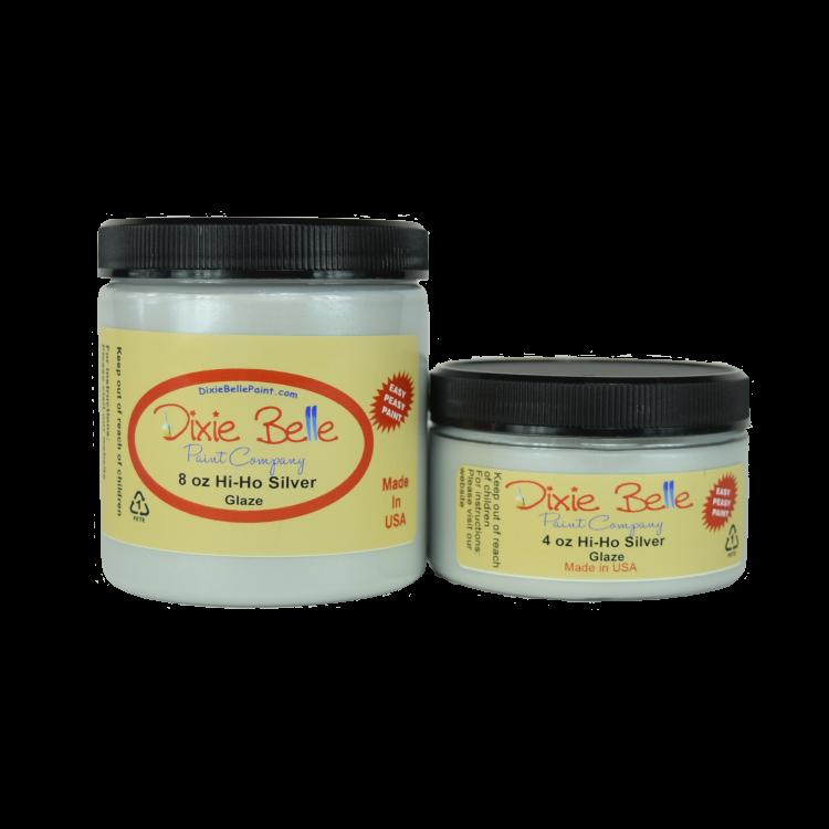 Dixie Belle Chalk Mineral Paint - Hi Ho Silver | www.raggedy-bits.com | #raggedybits #DIY #paint #dixiebelle #glaze #HiHoSilver