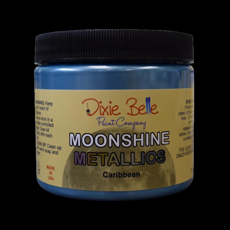 Dixie Belle Moonshine Metallic - Caribbean   www.raggedy-bits.com   #raggedybits #DIY #paint #dixiebelle #Caribbean #moonshine #metallics