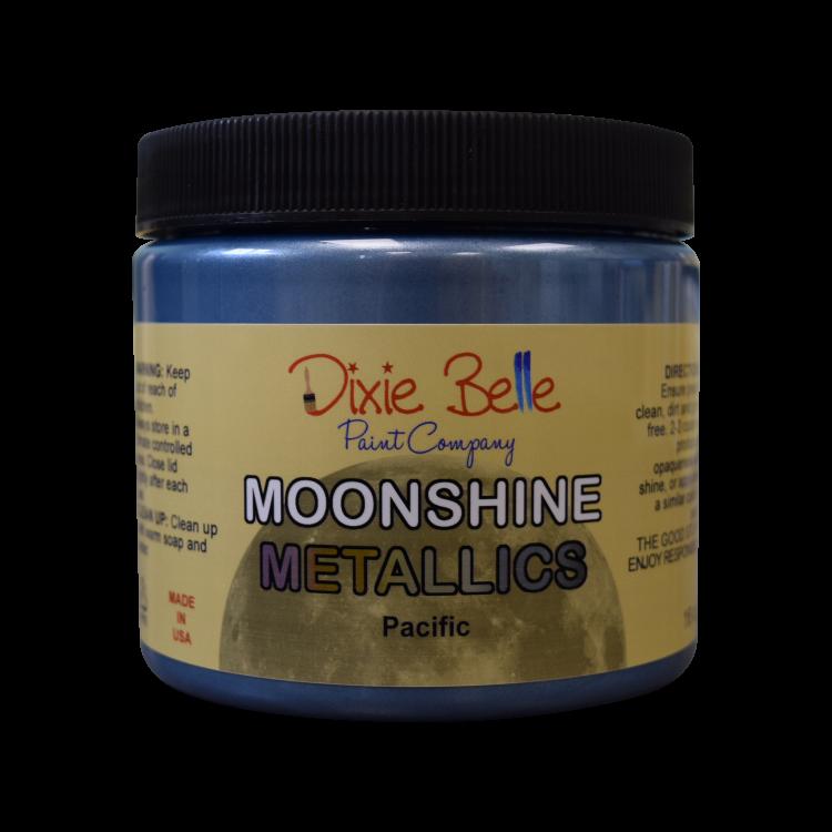 Dixie Belle Moonshine Metallic - Pacific   www.raggedy-bits.com   #raggedybits #DIY #paint #dixiebelle #Pacific #moonshine #metallic