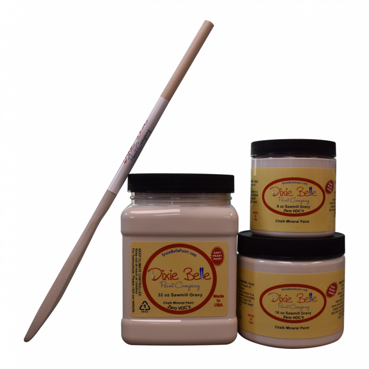 Dixie Belle Chalk Mineral Paint - Sawmill Gravy | www.raggedy-bits.com | #raggedybits #DIY #paint #dixiebelle #SawmillGravy