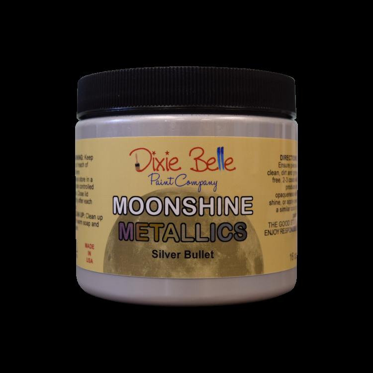 Dixie Belle Moonshine Metallic - Silver Bullet   www.raggedy-bits.com   #raggedybits #DIY #paint #dixiebelle #SilverBullet #moonshine #metallic