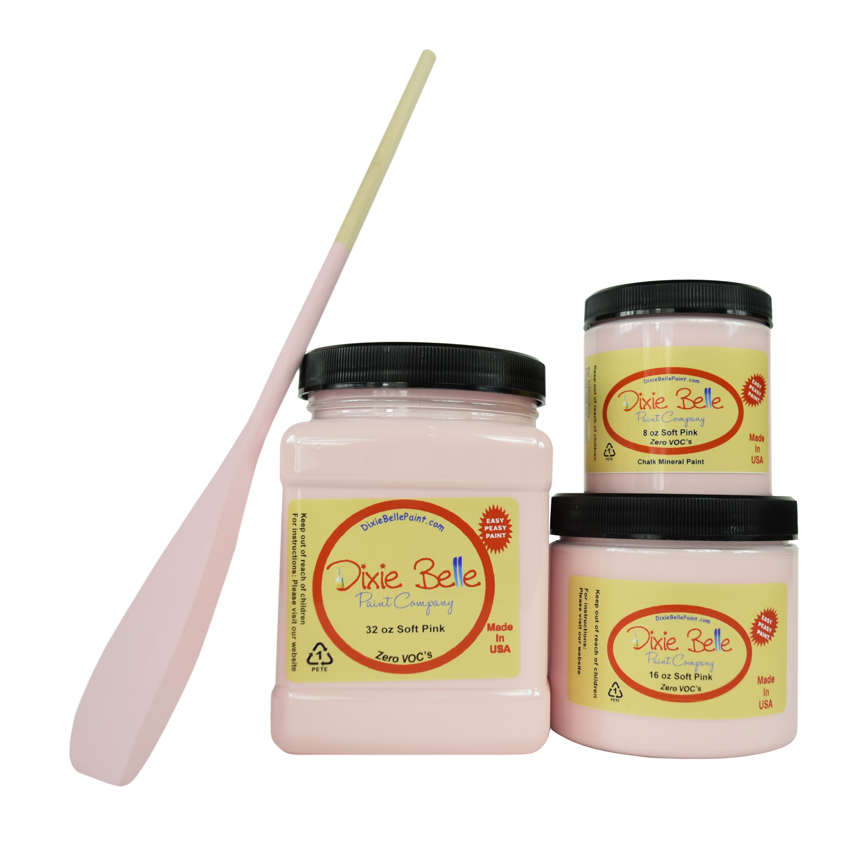 Dixie Belle Chalk Mineral Paint - Soft Pink | www.raggedy-bits.com | #raggedybits #DIY #paint #dixiebelle #SoftPink