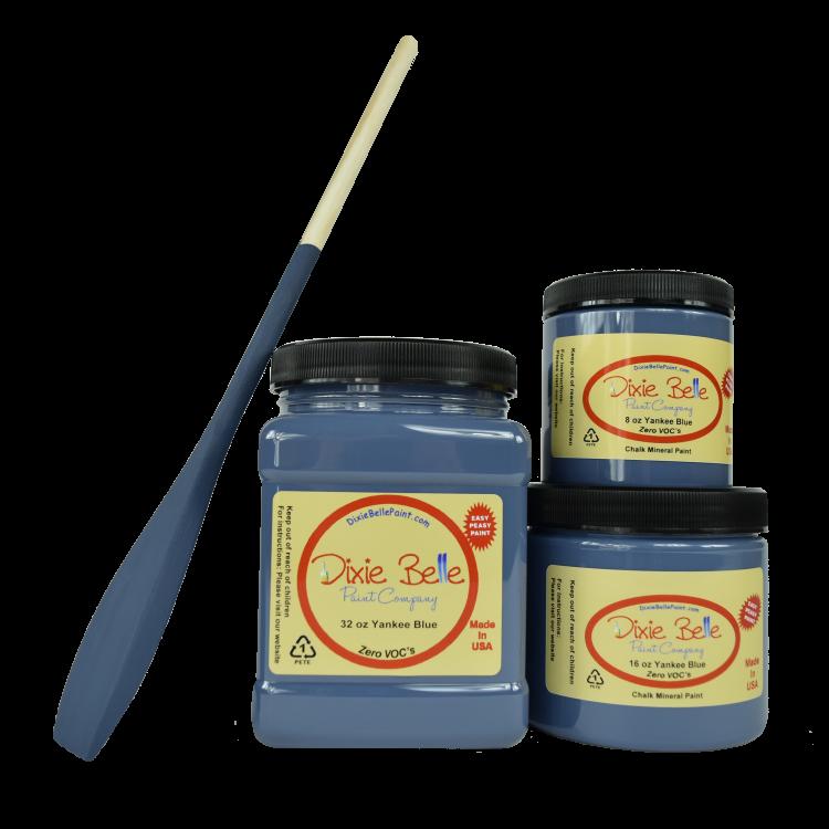 Dixie Belle Chalk Mineral Paint - Yankee Blue | www.raggedy-bits.com | #raggedybits #DIY #paint #dixiebelle #YankeeBlue