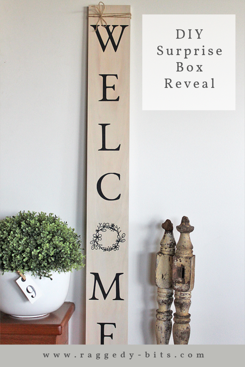 It's that fun time of the month for our Spring Porch Surprise Box Reveal. Come and see what our creatives have been busy creating this month | www.raggedy-bits.com | #raggedybits #diy #surprise #box #spring #porch #vintage #farmhouse #fusionmineralpaint