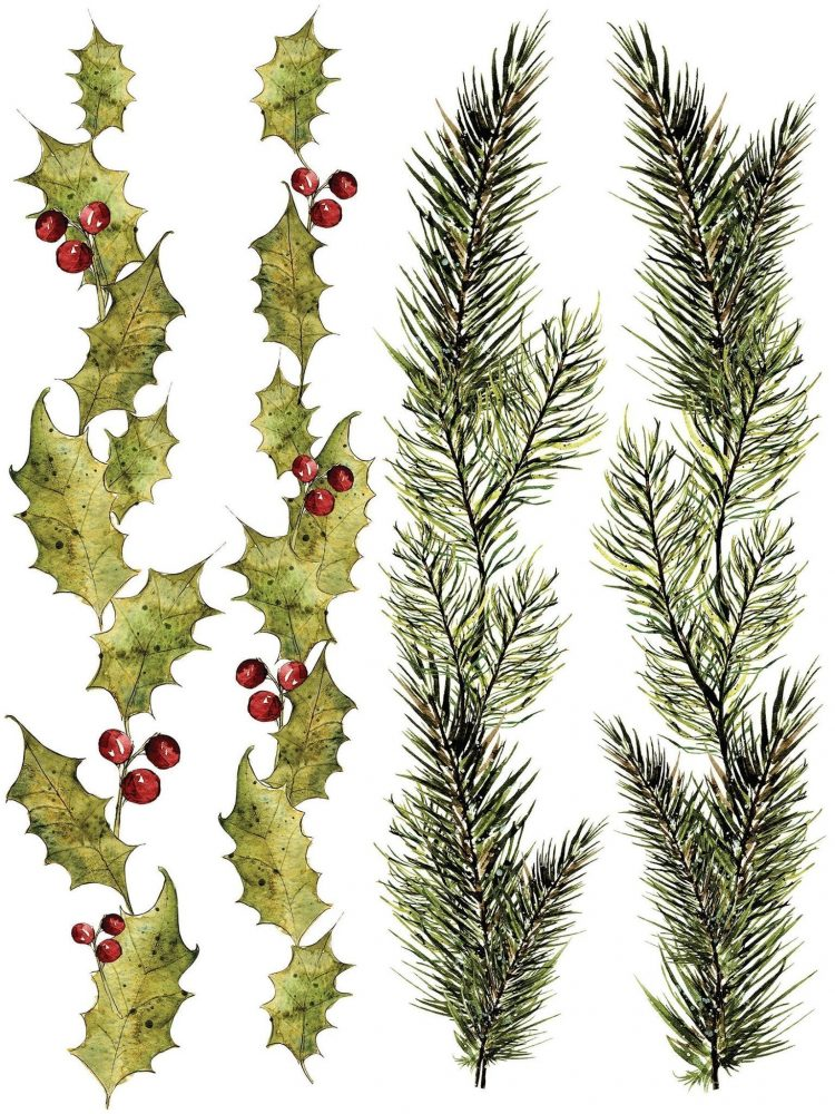 Have fun adding texture to your projects with these Iron Orchid Designs Decor Transfers - Woodland Christmas Decor | www.raggedy-bits.com | #raggedybits #IOD #WoodlandChristmasDecor #texture