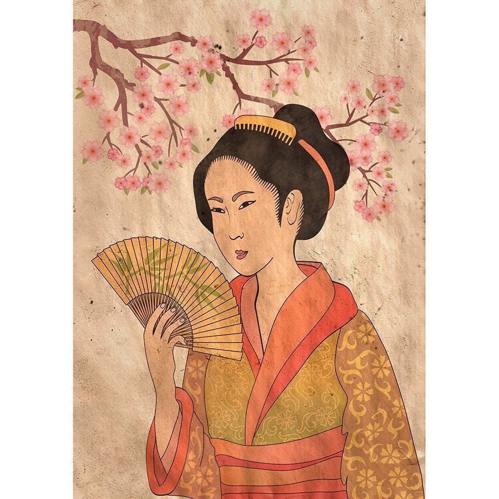 Add some fun texture to your next project with Mint Decoupage Paper - Geisha | www.raggedy-bits.com | #raggedybits #DIY #furniture #upcycle #repurpose #geisha