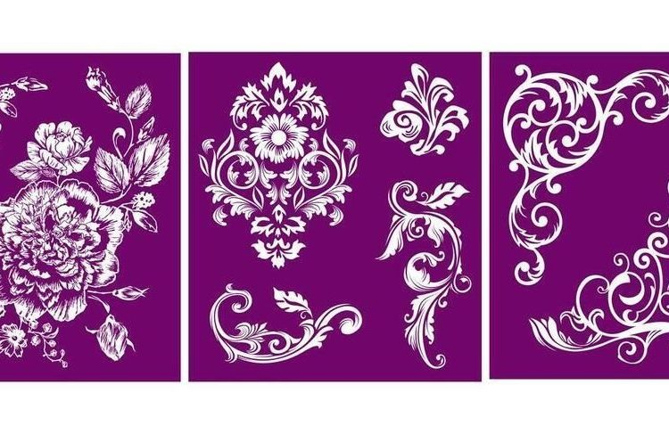 Add a little something extra to your next furniture makeover with this fun new Belles and Whistles Floral l Silkscreen Stencil | www.raggedy-bits.com | #raggedybits #stencil #silkscreen #floral #dixiebelle #DIY #furniture #makover #repurpose #upcycle