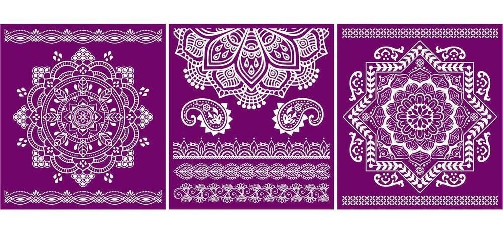 Add a little something extra to your next furniture makeover with this fun new Belles and Whistles Mandala Silkscreen Stencil | www.raggedy-bits.com | #raggedybits #stencil #silkscreen #mandala #dixiebelle #DIY #furniture #makover #repurpose #upcycle