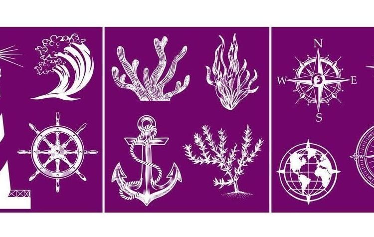 Add a little something extra to your next furniture makeover with this fun new Belles and Whistles Nautical Silkscreen Stencil | www.raggedy-bits.com | #raggedybits #stencil #silkscreen #nautical #dixiebelle #DIY #furniture #makover #repurpose #upcycle