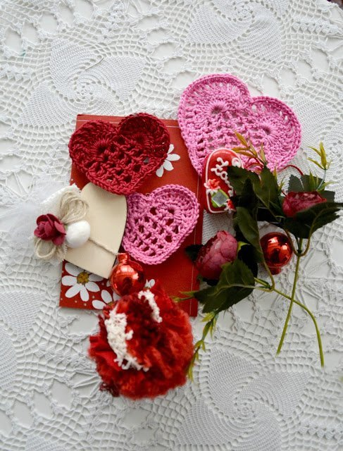 Valentine's Hearts which is a feature for Waste Not Wednesday-239 by The Little Treasures   www.raggedy-bits.com