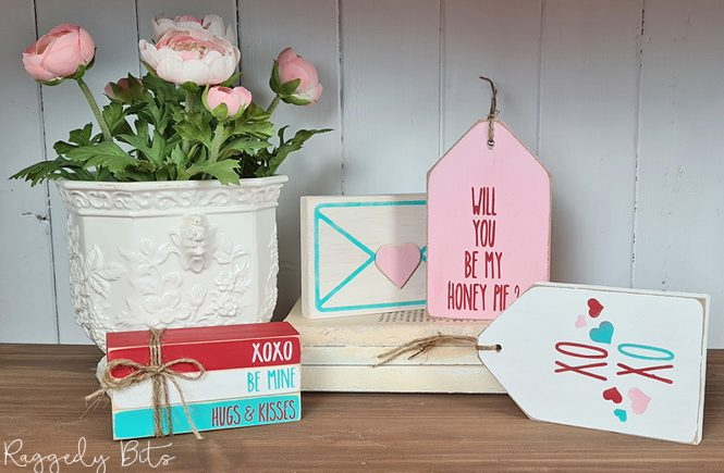 It's that fun time of the month for our DIY Love Surprise Box Reveal. Come and see what our creatives have been busy creating this month | www.raggedy-bits.com | #raggedybits #diy #surprise #box #valenitnes #love #porch #vintage #farmhouse #fusionmineralpaint