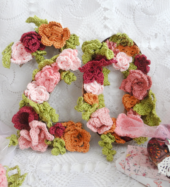Crochet Number Flowers which is a feature for Waste Not Wednesday-243 by Little Treasures | www.raggedy-bits.com