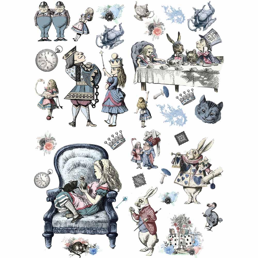 Belles & Whistles Decor Transfer - Alice In Wonderland   www.raggedy-bitgs.com   #raggedybits #decortransfer #DIY #Belles&Whistles #AliceInWonderLand
