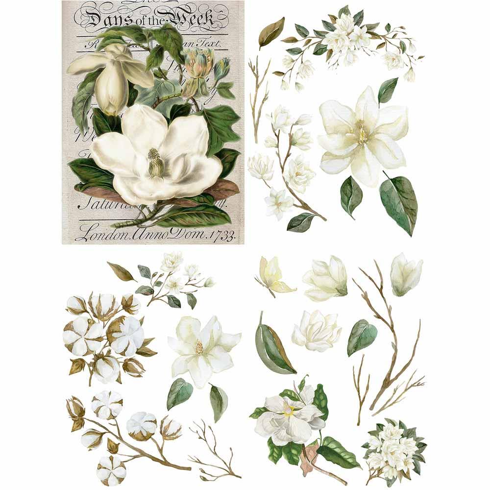 Belles & Whistles Decor Transfer - Magnolia Garden | www.raggedy-bitgs.com | #raggedybits #decortransfer #DIY #Belles&Whistles #MagnoliaGarden
