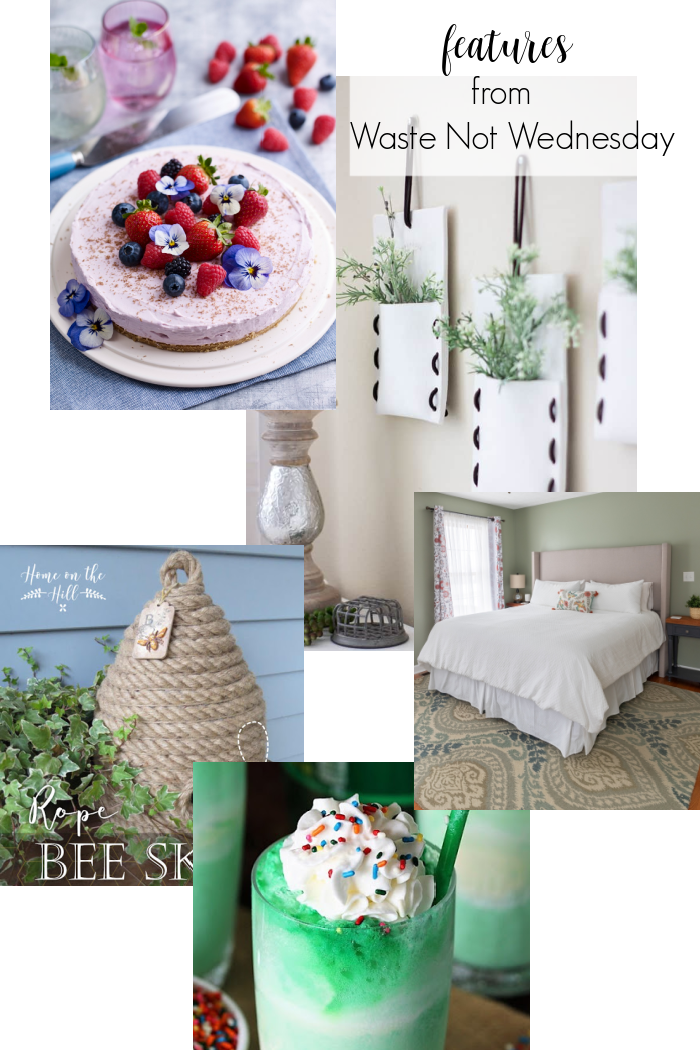 Features from our fun Waste Not Wednesday- 246 DIY, Craft, Home Decor and Recipe party this week! Be sure to join us and share your DIY, Craft, Home Decor and favourite recipes! | www.raggedy-bits.com | www.prettydiyhome.com | #WasteNotWednesday #DIY #HomeDecor #Craft #Recipes