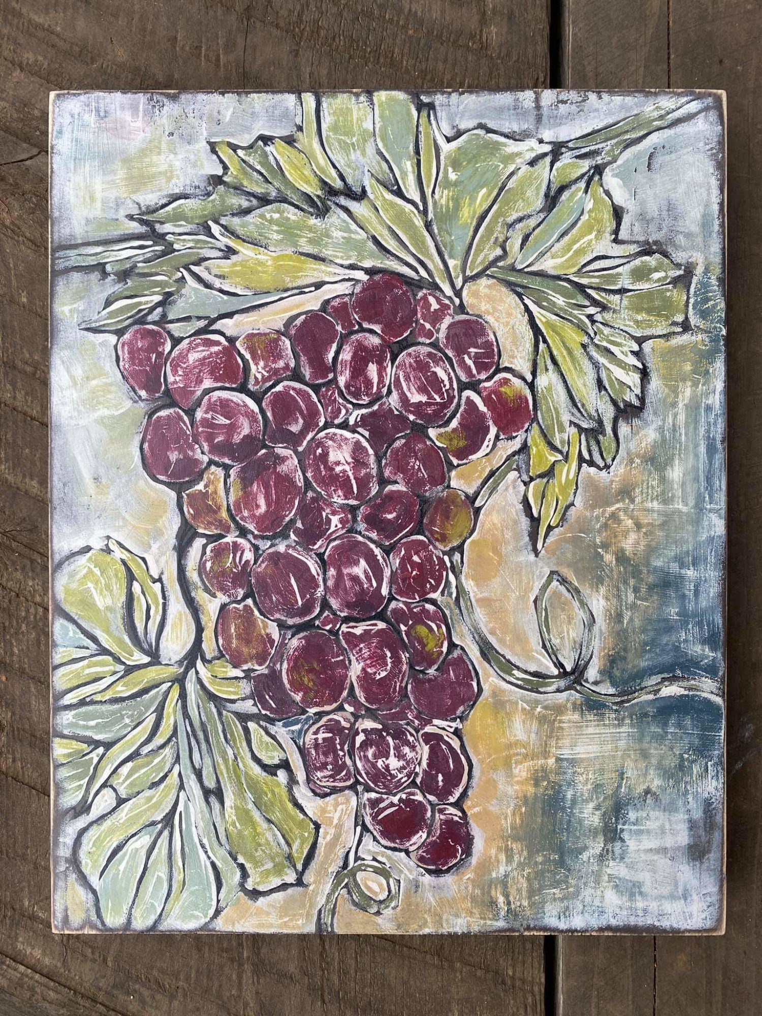 Have fun adding texture to your projects with these fun Iron Orchid Designs - Grapes | www.raggedy-bits.com | #raggedybits #IOD #DecorStamps #grapes #texture