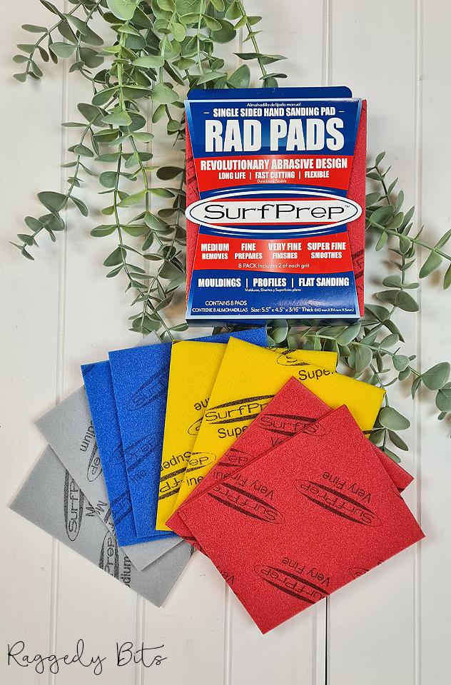 Surf Prep Rad Pads | www.raggedy-bits.com | #raggedybits #DIY #paint #dixiebelle #paintbrush #surfprep #radpads