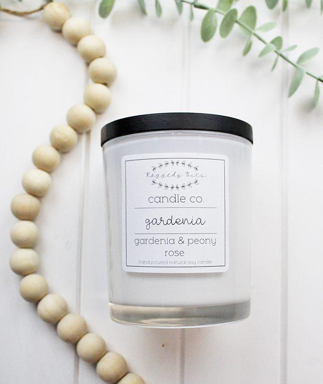 Raggedy Bits Candle Co - Gardenia | www.raggedy-bits.com | #raggedybits #candles #homedecor #gardenia