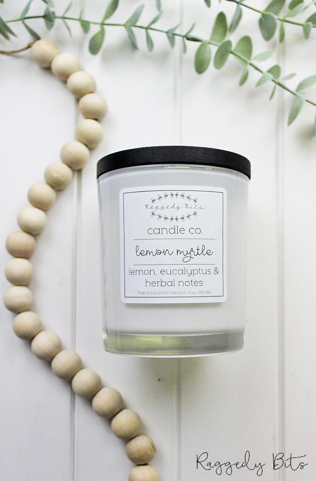 Raggedy Bits Candle Co - Lemon Myrtle | www.raggedy-bits.com | #raggedybits #candles #homedecor #lemonmyrtle