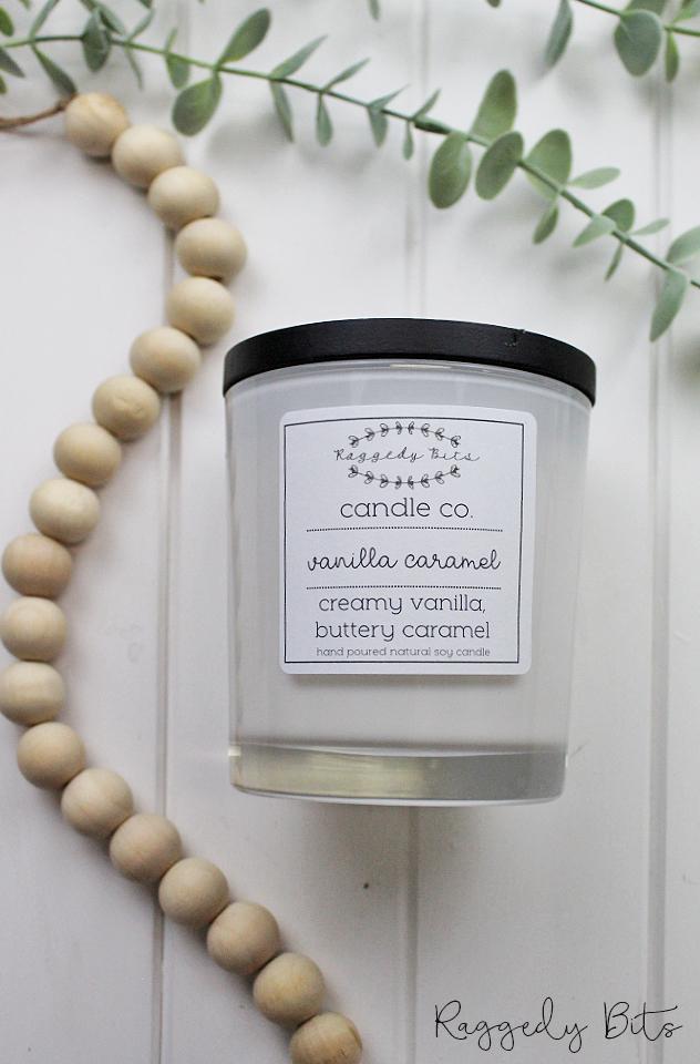 Raggedy Bits Candle Co - Vanilla Caramel | www.raggedy-bits.com | #raggedybits #candles #homedecor #vanillacaramel