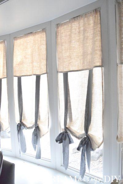 Easy DIY Tie Up Shades | www.raggedy-bits.com | #raggedybits #diy #sewing #farmhouse #vintage #repurpose #upcycle #dreamdesigndiy
