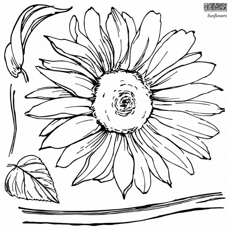 Have fun adding texture to your projects with these fun Iron Orchid Designs - Sunflowers | www.raggedy-bits.com | #raggedybits #IOD #DecorStamps #Sunflowers #texture