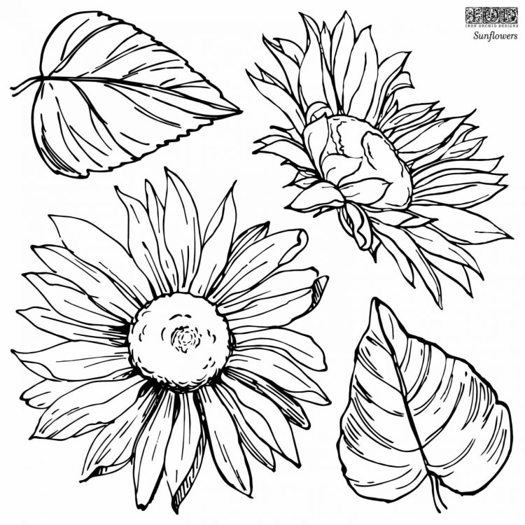 Have fun adding texture to your projects with these fun Iron Orchid Designs - Sunflowers   www.raggedy-bits.com   #raggedybits #IOD #DecorStamps #Sunflowers #texture