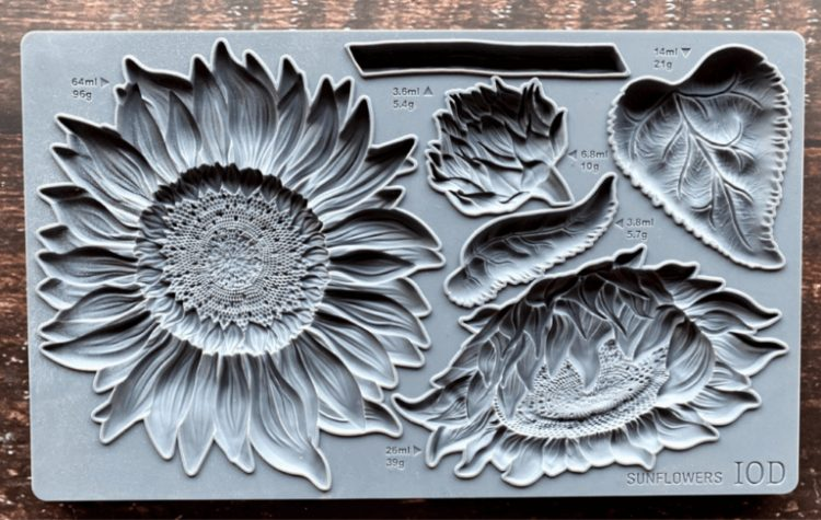 Iron Orchid Designs Decor Mould - Sunflowers   www.raggedy-bits.com