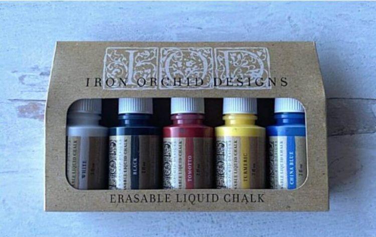 Iron Orchid Designs - Erasable Liquid Chalk Set   www.raggedy-bits.com