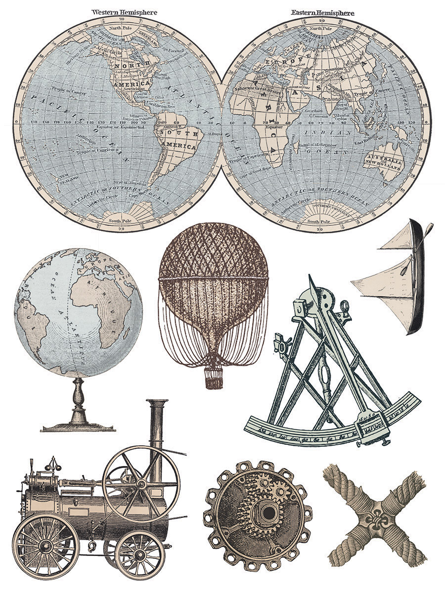 Have fun adding texture to your projects with these Iron Orchid Designs Decor Transfers - Exploration | www.raggedy-bits.com | #raggedybits #IOD #DecorTransfers #Exploration #texture