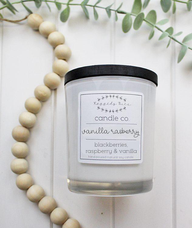 Raggedy Bits Candle Co - Vanilla Raspberry | www.raggedy-bits.com | #raggedybits #candles #homedecor #vanillaraspberry