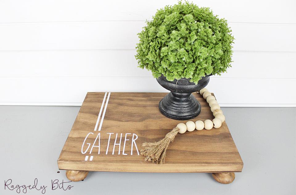 Farmhouse Gather Table Riser   www.raggedy-bits.com   #raggedybits #sign #handmade #tableriser #farmhouse #gather