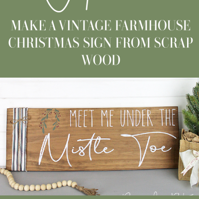 Do you have lots of scrap wood that your not sure what to do with? Sharing a fun Christmas Project to make using a stencil, Dixie Belle Voodoo Gel Stain - Tobacco Road, Fusion Casement, Bayberry and Cranberry | How to Make A Vintage Farmhouse Christmas Sign With Scrap Wood | www.raggedy-bits.com | #raggedybits #diy #farmhouse #sign #christmas #scrapwood #DixieBelleChalkMineralPaint #FusionMineralPaint