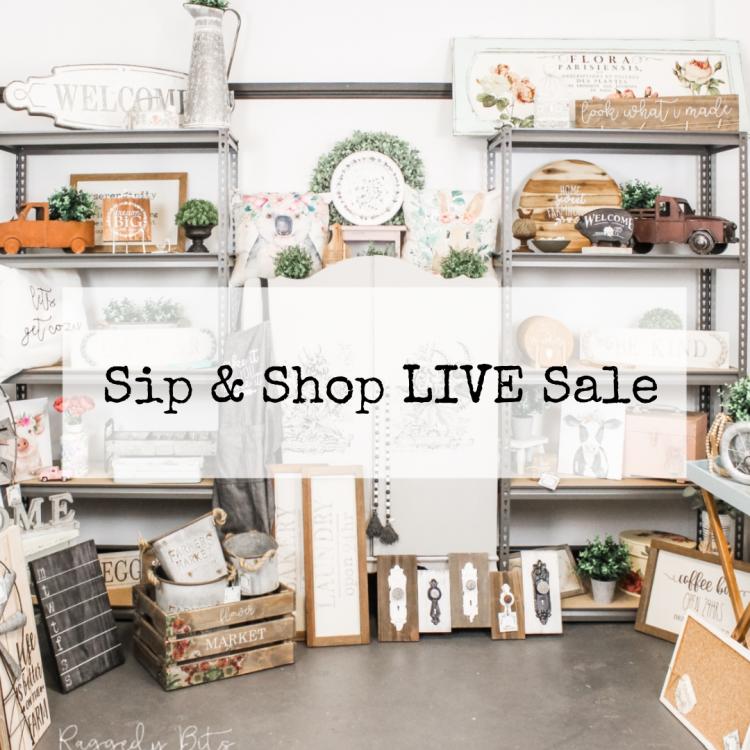 Sip & Shop LIVE Sale