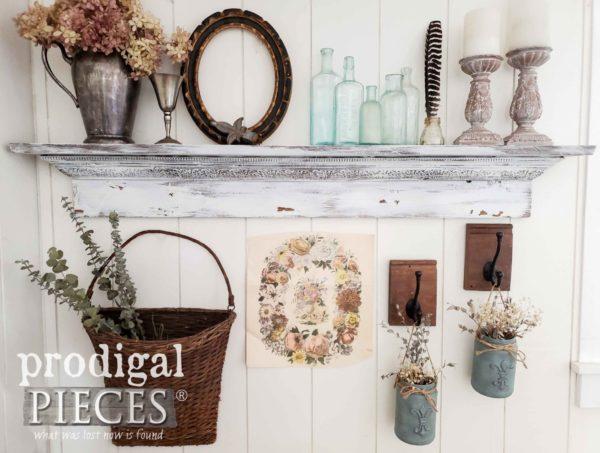 Upcycled Jar Hangers  | www.raggedy-bits.com | #raggedybits #diy #glassjar #farmhouse #vintage #repurpose #upcycle #prodigalpieces