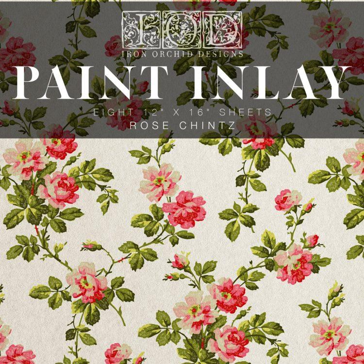 IOD Paint Inlay - Chintz | www.raggedy-bits.com